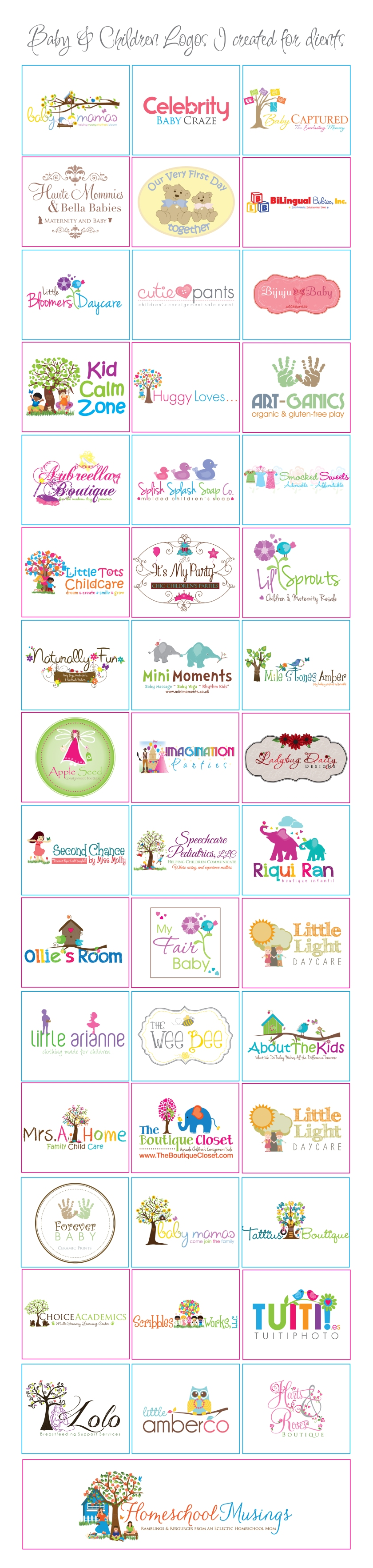 babies and children logos